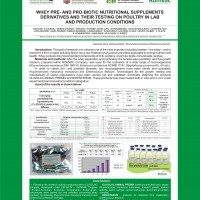 WHEY PRE AND PRO-BIOTIC NUTRITIONAL SUPPLEMENTS DERIVATIVES